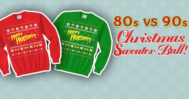 Y107's 80's vs. 90's Ugly Sweater Christmas Party - Y107