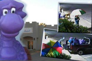 Purple dragon and screen shots of crooks