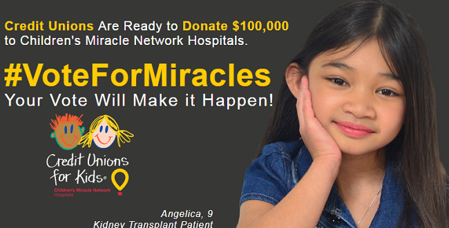 Vote for Miracles banner for MU Children's Hospital