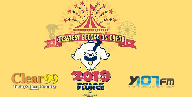 2019 Polar Plunge logo with Y107 Clear 99 logos