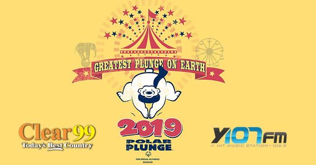 2019 Polar Plunge logo with Y107 Clear 99 logos