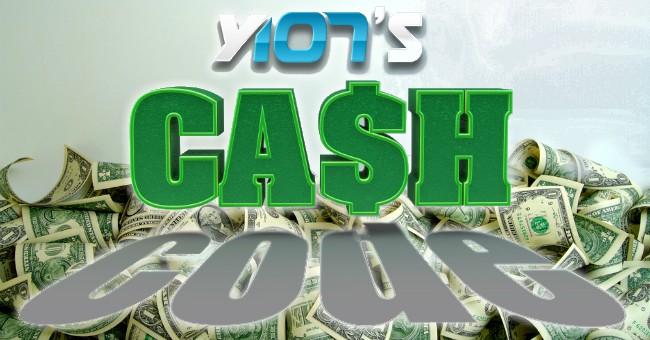 Y107 cash code graphic
