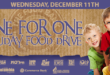 One for One Food Drive header with kids