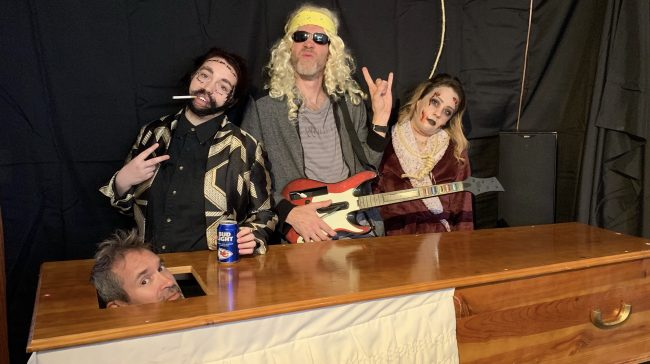 Picture of Destiny,Carson,Cosmo, and Hannah on Halloween