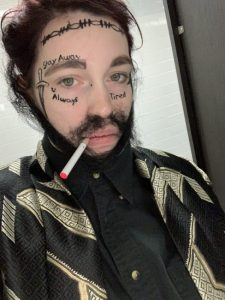 Picture of Destiny dressed up as Post Malone