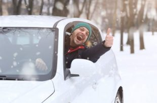 Dude in a frozen car
