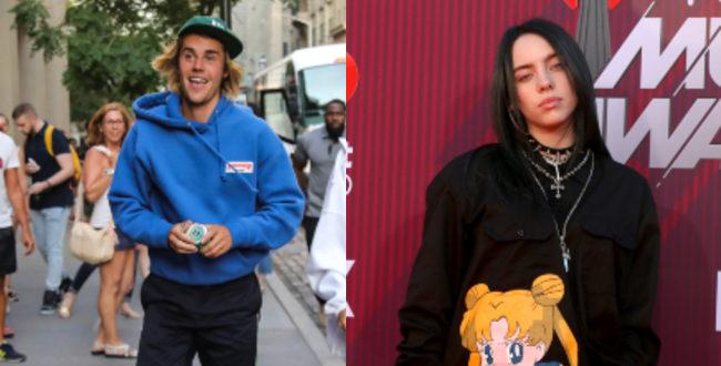Justin Bieber and Billie Eilish pictures