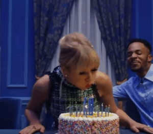 Taylor Swift blowing out candles