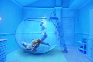 Taylor in a fish bowl