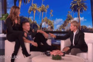 Charlie Puth with Jennifer Aniston on Ellen