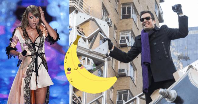 Taylor Swift Jimmy Fallon and a banana