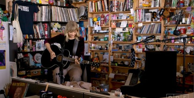Taylor Swift Performs for NPR tiny desk series