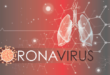 coronavirus red background