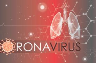 coronavirus red background