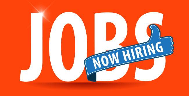 Now Hiring Jobs Sign