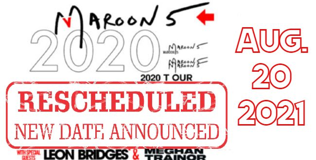 Maroon 5 tour art date announce banner