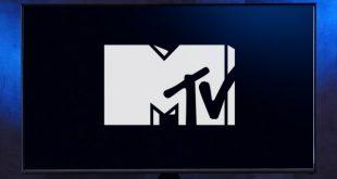 MTV logo on a TV