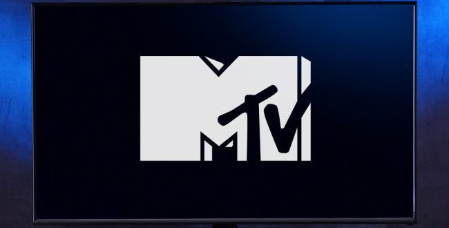 MTV logo on a TV