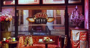 "Central Perk cafe set from ""Friends"" TV show at Warner Brothers Studio in Los Angeles, California."