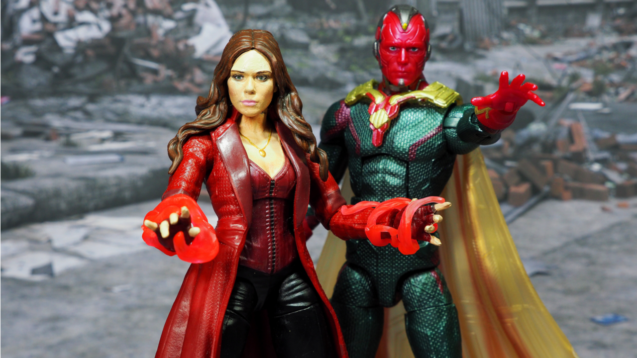 Wanda Maximoff and Vision Action Figures