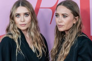 Mary-Kate Olsen and Ashley Olsen wearing dress by The Row attend 2019 CFDA Fashion Awards at Brooklyn Museum