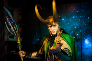 Wax figure of Loki fictional character from American comic books in Madame Tussauds Wax museum in Amsterdam, Netherlands