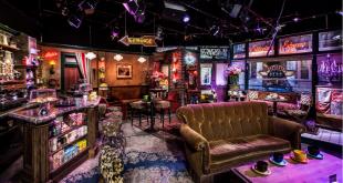 Friends TV Show. Central Perk Cafe set in Warner Bros Studio in Burbank