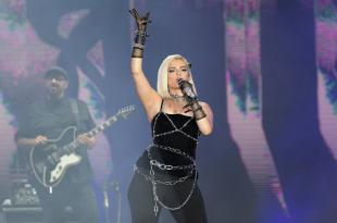 Singer Bebe Rexha during her Rock in Rio concert