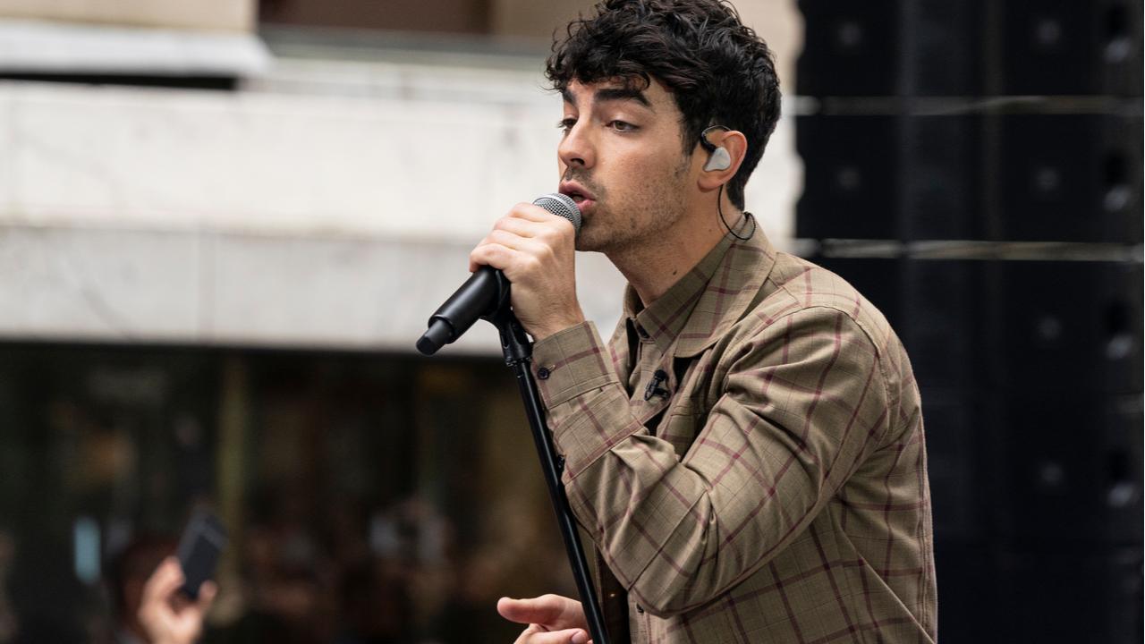 Joe Jonas of The Jonas Brothers band performs on NBC TODAY SHOW at Rockefeller Plaza L
