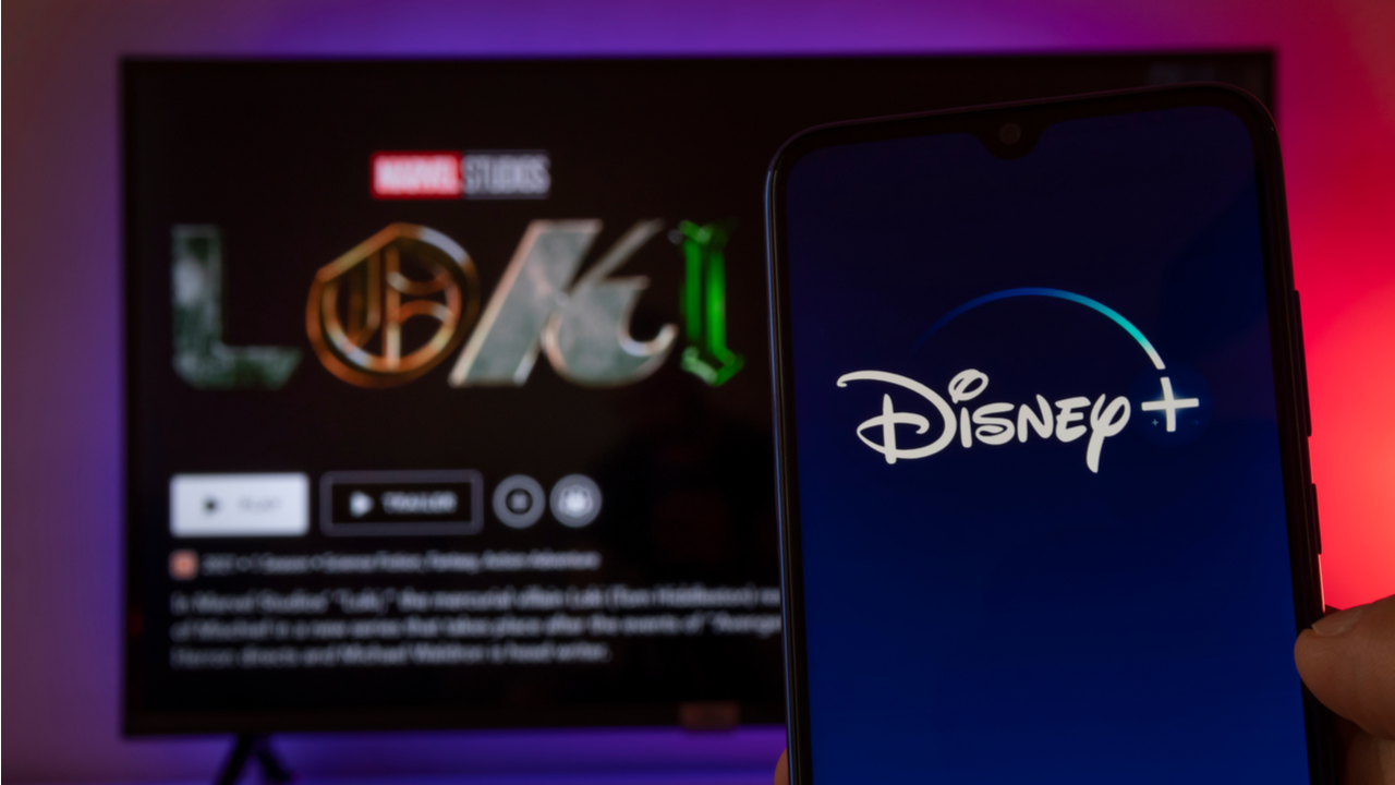 Disney Plus with Loki, new Marvel serie on TV screen, 9th Jun, 2021, Sao Paulo, Brazil