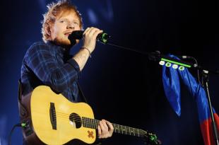 British singer Ed Sheeran during his performance in Prague, Czech republic, February 12, 2015.