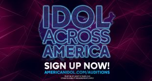 """Graphic that says """"Idol Across America: Sign Up Now"""""""