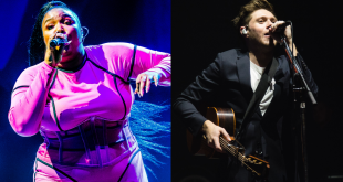 Lizzo in concert side by side with Niall Horan in concert