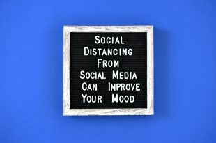 Social distancing from social media can improve your mood. message board